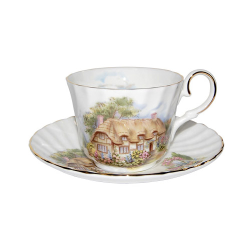 Tea Cup and Saucer, English Cottage