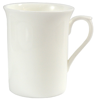 White Bone China Mug