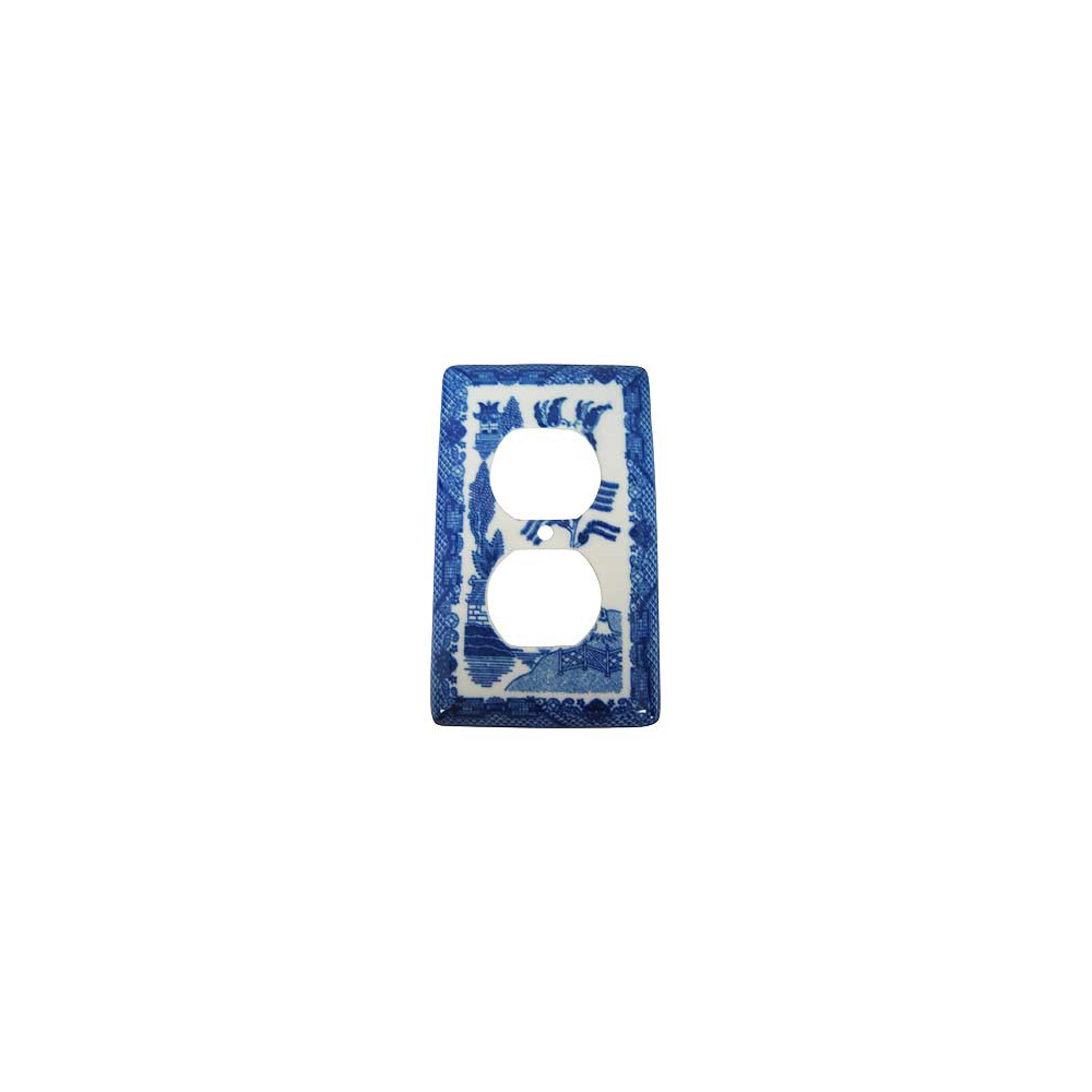 Blue Willow Ware Electric Cover For Duplex Receptable
