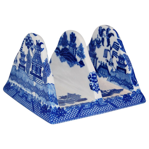 Blue Willow Ware Napkin and Mail Holder