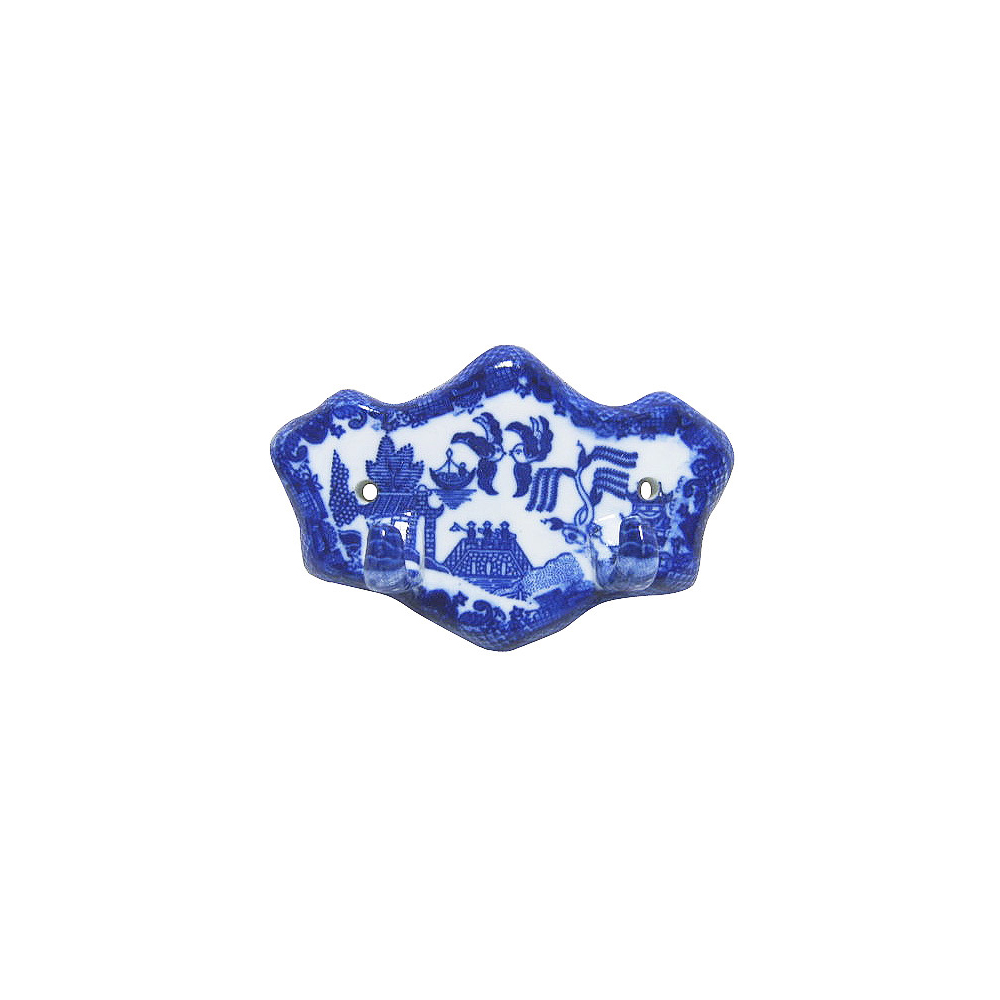 Blue Willow Ware - Hanger with 2 Hooks