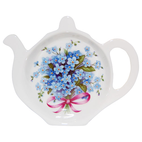 Bone China Tea Bag Tidy, Forget-Me-Not