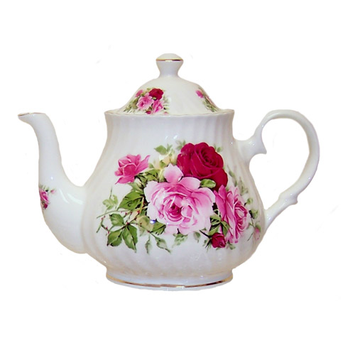 Summertime Rose Bone China Teapot - 2 Cup