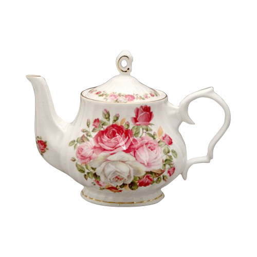 Cottage Rose 6-Cup Teapot