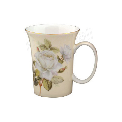 oz fine bone china mug Gold trimmed; Trumpet Shaped Mug Made in ...