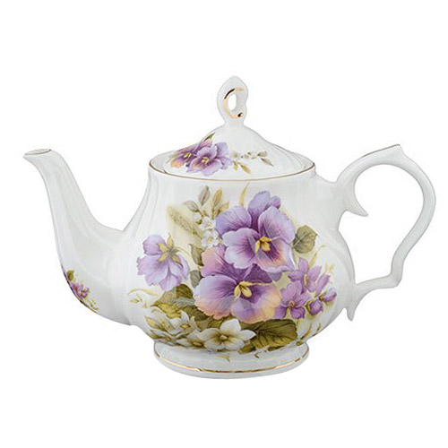 Pansy 6-Cup Teapot