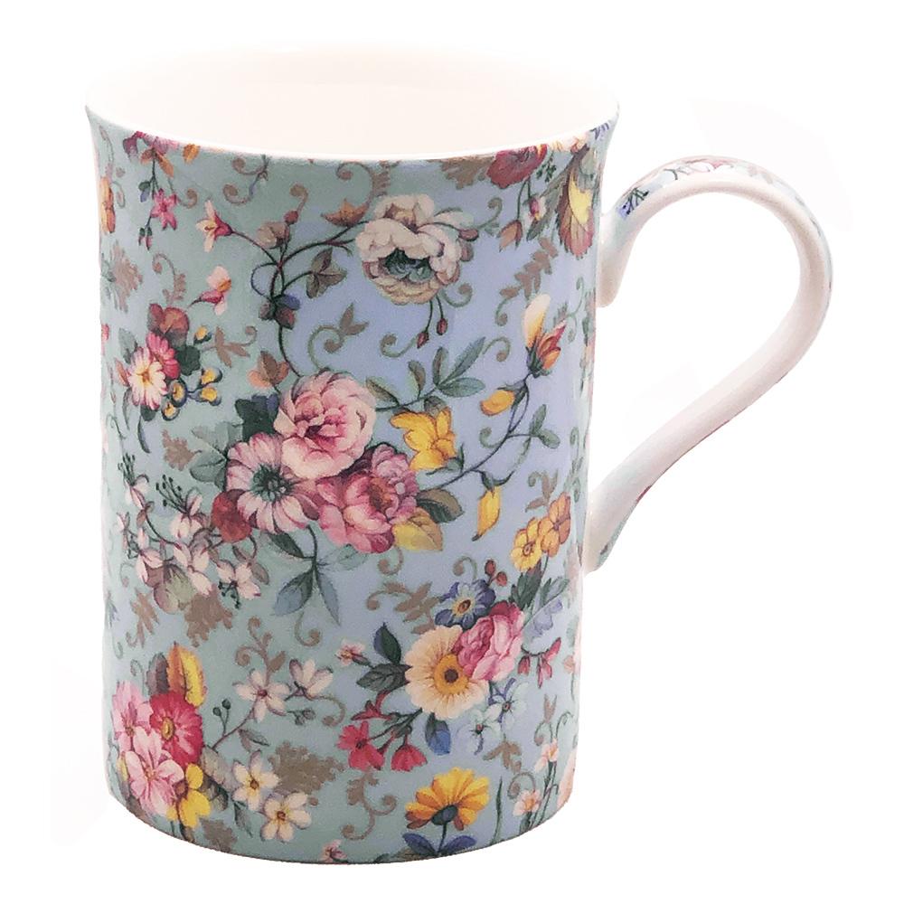 Old Garden Variety Blue Color Chintz Mug