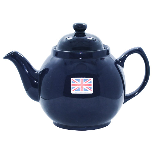 Blue Brown Betty Teapot 8 Cups Cobalt Blue