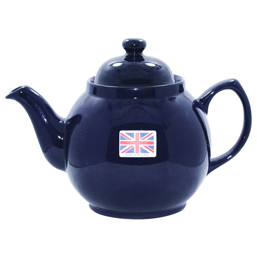Blue Color Brown Betty Teapot 4 Cups