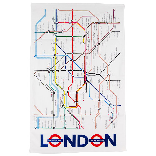 London Underground Map, Tea Towel