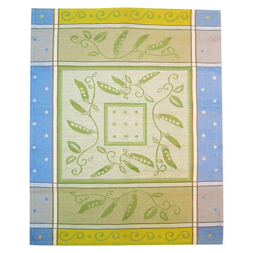 European Kitchen Towel - Blue Peas