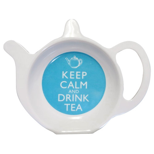 Keep Calm and Drink Tea - Melamine Tea Bag Tidy