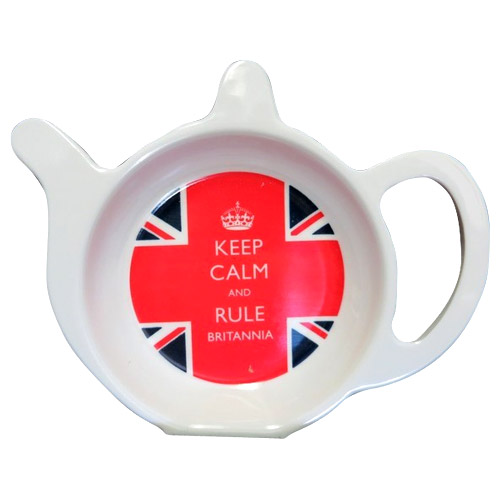 Keep Calm and Rule Britannia - Melamine Tea Bag Tidy
