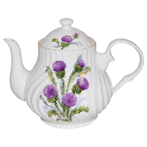 Thistle 4 Cup English Teapot By Crown Trent China