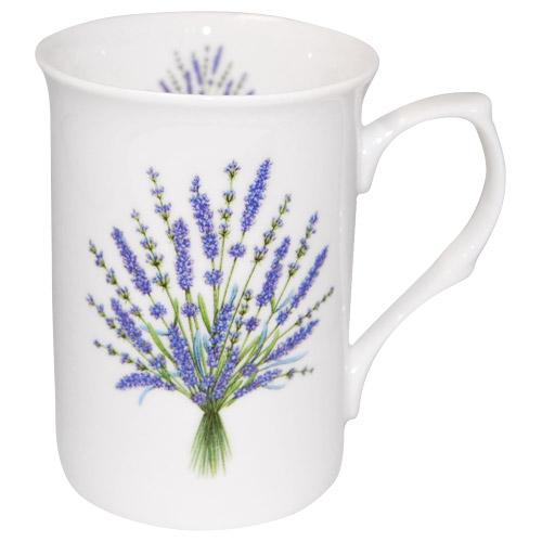 Lavender Bouquet Bone China Mug