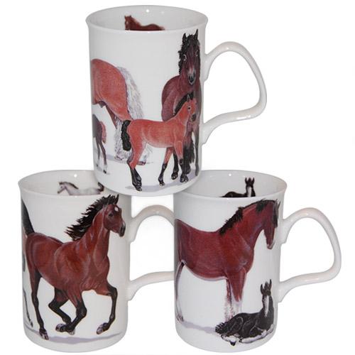 Horse Mug Set in English Fine Bone China
