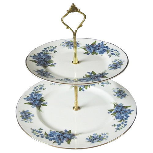 2 Tier Cake Stand Forget Me Not