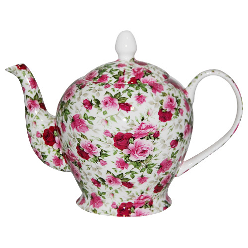 Summertime Rose, Chintz Teapot, 6-Cup