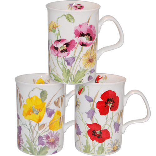 Englsih Meadow Mugs, Set of 3