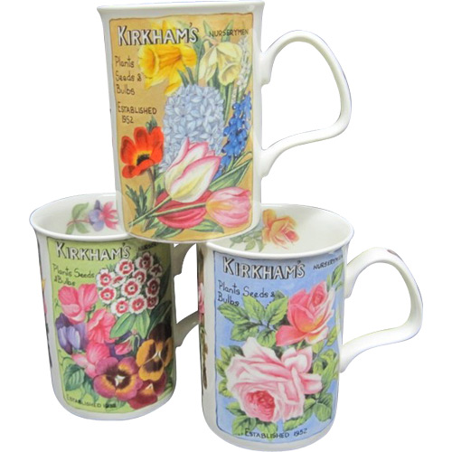 Flower Garden, Set of 3 Mugs