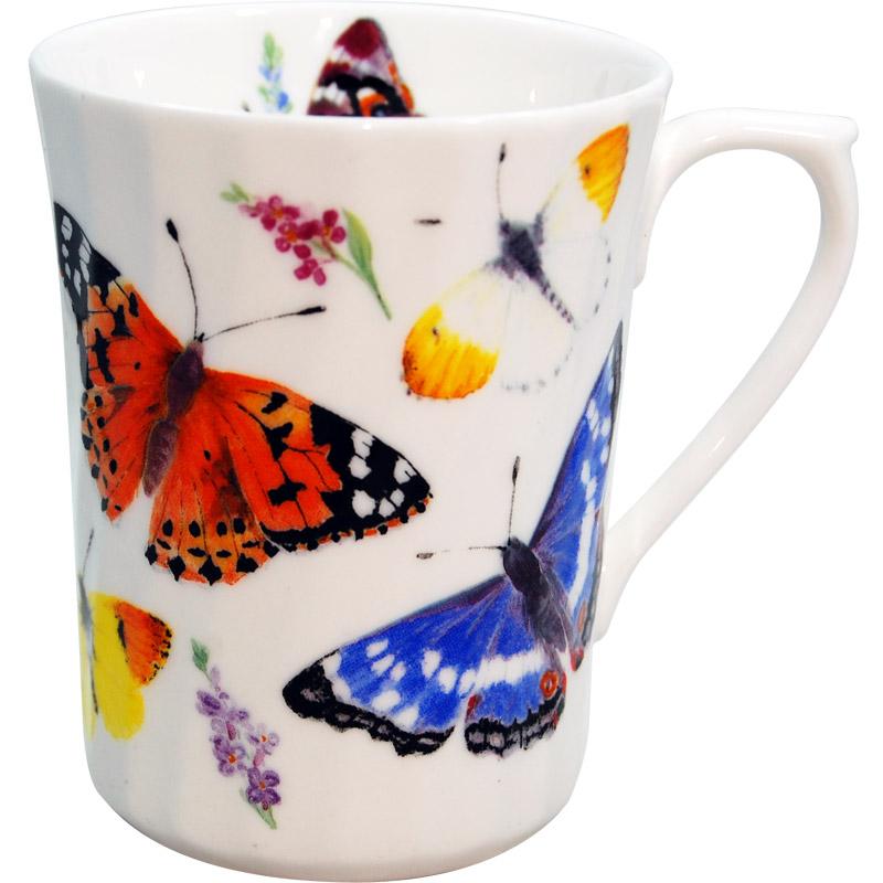 Butterfly Garden Bone China Mug