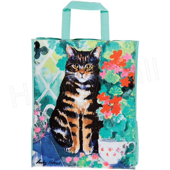 Conservatory Cat PVC Tote Bag, 12.4x15.4