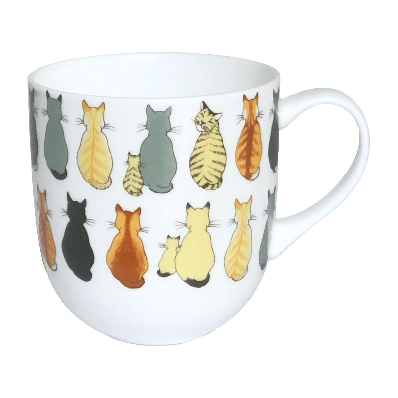 Cats In Waiting Bone China Mug