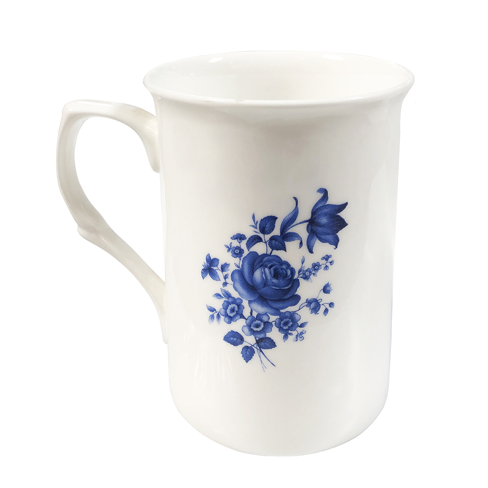 Blue Rose Tea Mug
