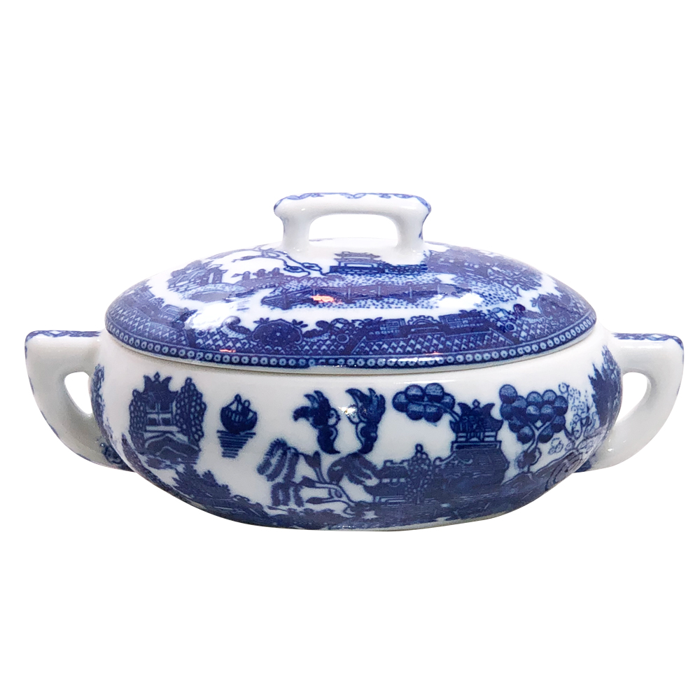 Mini Blue Willow Tureen with Cover, 5.5L