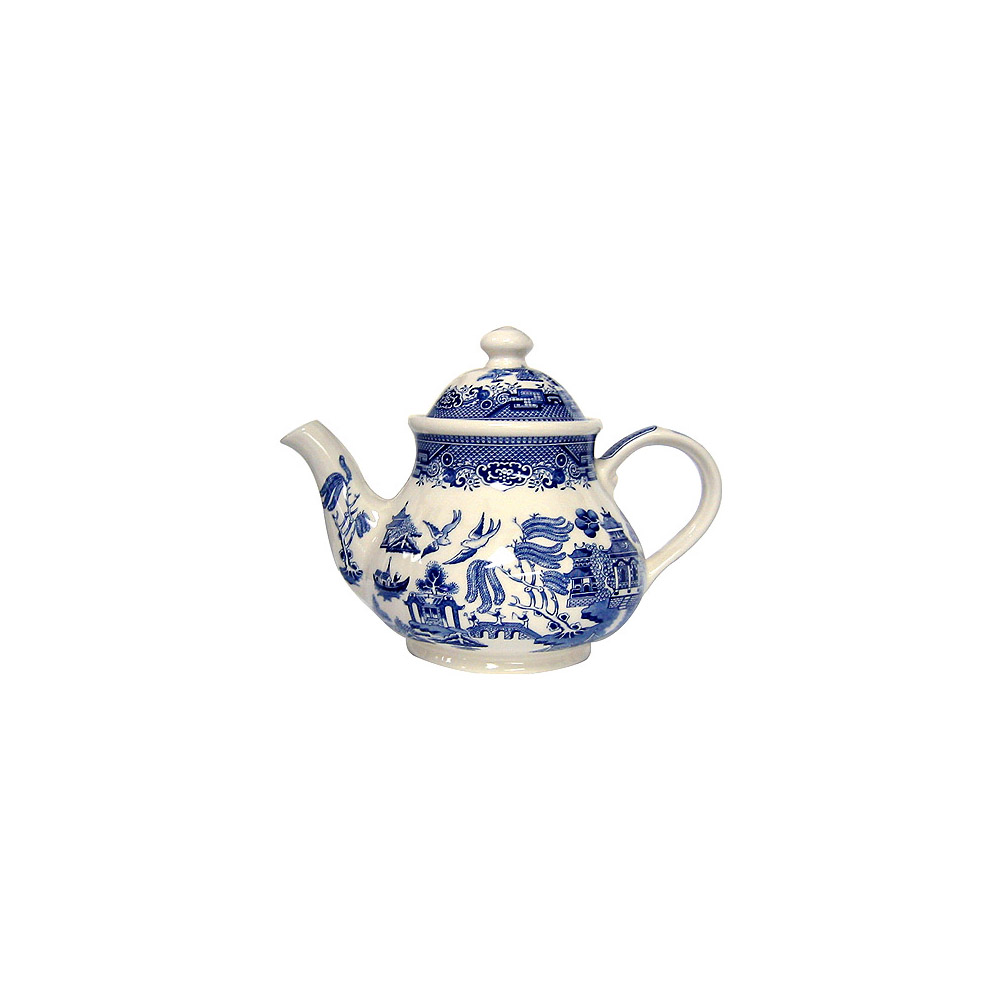 Churchill 5 Cup Teapot Blue Willow Ware