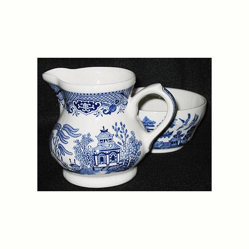 Churchill Blue Willow Ware Cream Amp Sugar Set