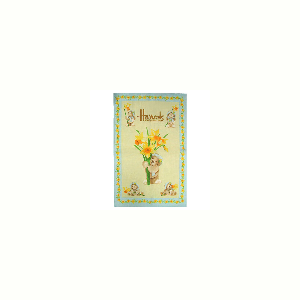 Harrods Tea Towel Daffodil Teddies
