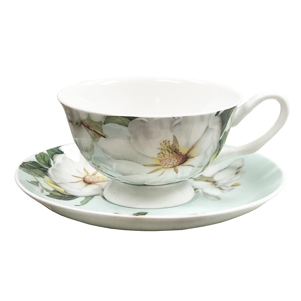 Magnolia Cup and Saucer Set