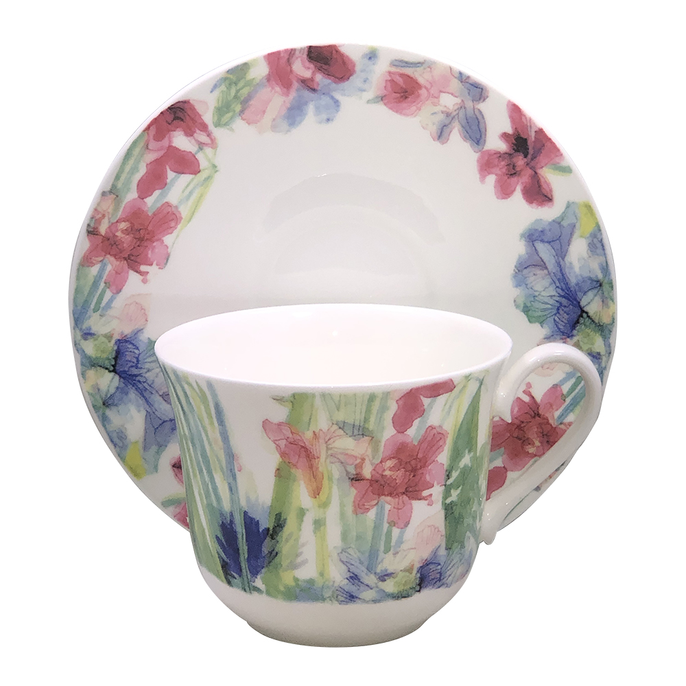Sweet Meadow Bone China Breakfast Cup and Saucer Set