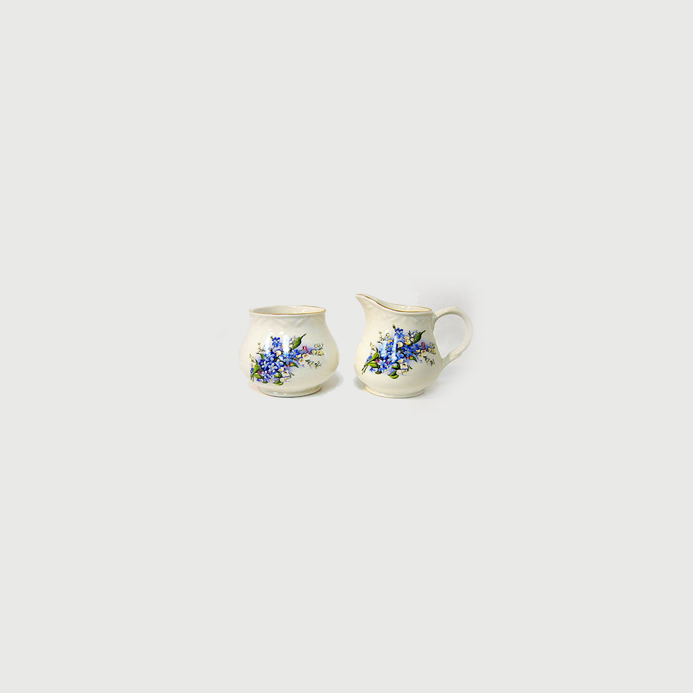 Forget-Me-Not Cream & Sugar Set