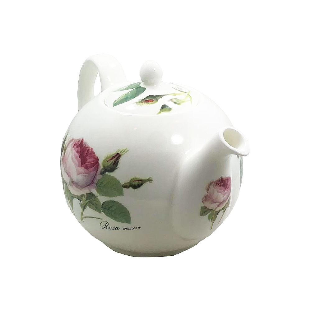 Redoute Rose Fine Bone China Teapot - 2 Cup
