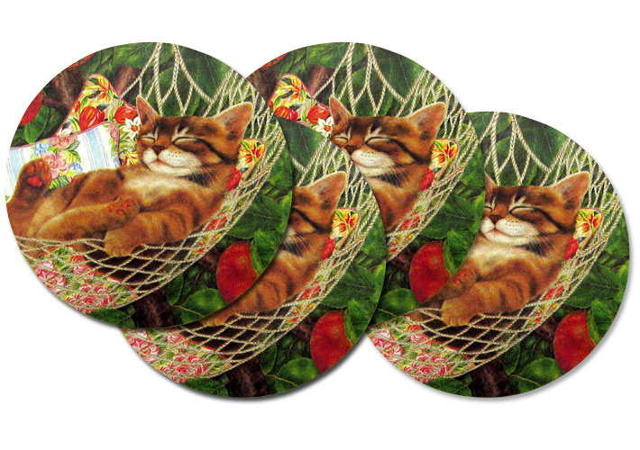 Coaster Set of 4 - Maxx Cats Cradle