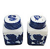 Blue Willow Mini Salt & Pepper Set, 1-5/8H
