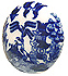 Blue Willow Ware - 1.4 D Door Knob