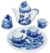 Blue Willow Ware Miniature 10 Piece Collector's Tea Set