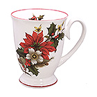 Christmas Mug with Red Trim