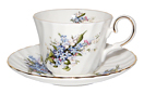 Tea Cup and Saucer, Forget-Me-Not