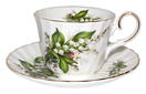 Tea Cup and Saucer, Lily of the Valley