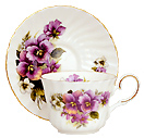 Tea Cup and Saucer, Pansy