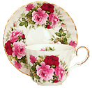 Tea Cup and Saucer, Summertime Rose