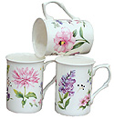 English Meadow - Set of 3 Bone China Mugs