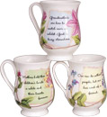 Say It With Love - Set of 3 Bone China Mugs