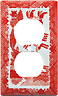 Blue Willow Ware in Pink - Electric Cover for Duplex Receptable