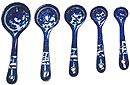 Blue Willow Ware - Set of 5 Measuring Spoons
