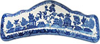 Blue Willow Ware - Five-Hook Key Hanger